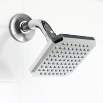 Square Single Function Fixed Plastic Shower Head, Chrome - $23.26