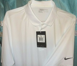 Nike DRI-FIT Men's Sz 2XL White Standard Fit S/S Rugby Golf Polo 725518 Clearanc - $32.38