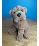"Vintage Plush Dog Brown Sharpei 1985 Prestige Toy Co. 9"" Tall Baby Ripples  - $15.79"