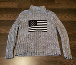 VERY RARE Vintage Polo Ralph Lauren American Flag Sweater SZ L Dark Blue... - $148.49