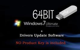 Microsoft Windows 7 Ultimate 64 bit Re-Install Recovery Repair DVD Drive... - $16.48