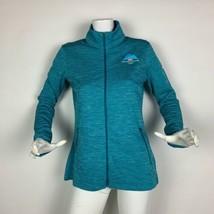 Nike Golf Dry fit Olympics PyeongChang 2018 Light zip up Jacket Green women Sz L - $69.99