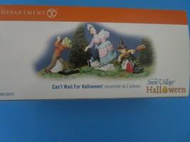 Dept 56 ~ Can't Wait For Halloween! - Halloween Snow Village (55272) - $49.95