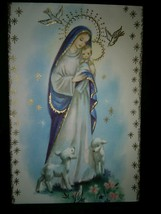 Madonna and Child Doves Vintage Christmas Card - $4.00