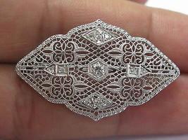 Vintage Old European Cut Diamond Pin/Brooch .25Ct White Gold - $1,188.00