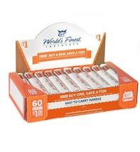 WORLD'S FINEST CHOCOLATE 60 x $1  Milk Chocolate With Almonds - $55.71