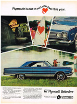 Vintage 1967 Magazine Ad Plymouth Belvedere Highly Contagious But Hard T... - $5.93
