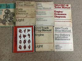 1984 Ford F-150 F150 250 350 F350 Bronco Truck Service Shop Repair Manual Set image 5
