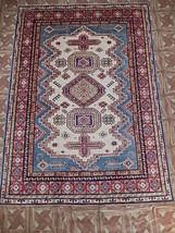 Super Kazak Veranda Carpet Handmade Area Rug 5x7 - $591.94