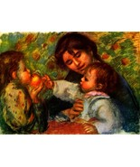 Jean Renoir and Gabrielle by Renoir - 24x32 inch Canvas Wall Art Home Decor - $51.99