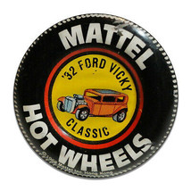 Mattel Hot Wheels 32 Ford Vicky Classic Collector Round MDF Wood Sign - $29.65
