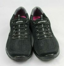 Skechers women's shoes relaxed fit air cooled memory foam black size US 9.5 image 6