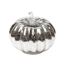 Mercury Glass Lighted Pumpkin with Timer for Fall Decor, Halloween Lante... - $35.44