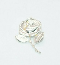 Beauty and the Beast Rose Sterling Silver .925 Vintage Necklace Pendant Charm - $19.79