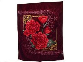 Floral Embossed Winter Decorative Soft Thick Warm Bed Blanket Throw Gold... - €46,36 EUR