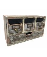 Farmhouse Decor Desk Organizer Craft Supply Storage Drawers Rustic Wood ... - $38.77