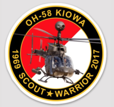 """US ARMY OH-58 KIOWA 4"""" COMMEMORATIVE STICKER - $9.89"""