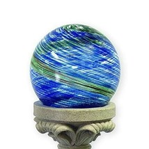 10-Inch Glow-in-the-Dark Illuminarie Glass Gazing Globe, Light Blue Swirl - $83.11