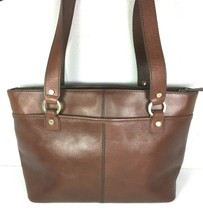 Etienne Aigner Vintage Brown Leather Multi Compartment Shoulder Bag - $47.52