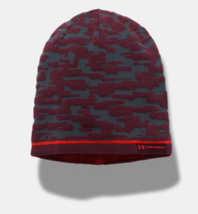 Under Armour Men's Reversible Graphic Beanie, Stealth Gray/ Raisin Red, ... - $26.45