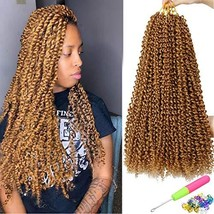 7 Packs Passion Twist Hair 18 Inch Water Wave Synthetic Braids for Passi... - $39.61
