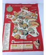 Vintage 60s Le Linge De Son Maitre Promotional Tea Towel La France Froma... - $98.99