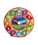 Melissa and Doug Shape Sorting Clock Educational Toy 8593 - $10.93