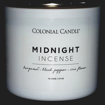 Colonial Candle Midnight Incense 14.5oz Scented Candle - New - $8.95