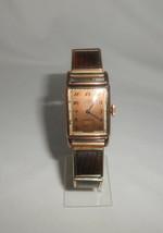 Elgin De Lux Men's Wrist Watch Vintage Art Deco 10K Rose Gold Filled - $61.75