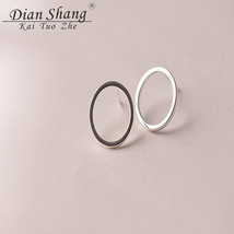 Wholesale 10pcs Minimalism Hoop Ear Studs For Women Jewelry Stainless St... - $24.42
