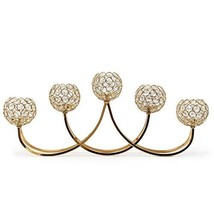 """allgala 27"""" 5 Bowl Crystal Gold Plated Tealight Votive Decorative Candle... - $76.75"""