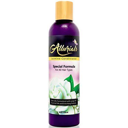 Allurials Natural Jasmine Conditioner Silk Pea Peptides Argan Jojoba Coconut Oil
