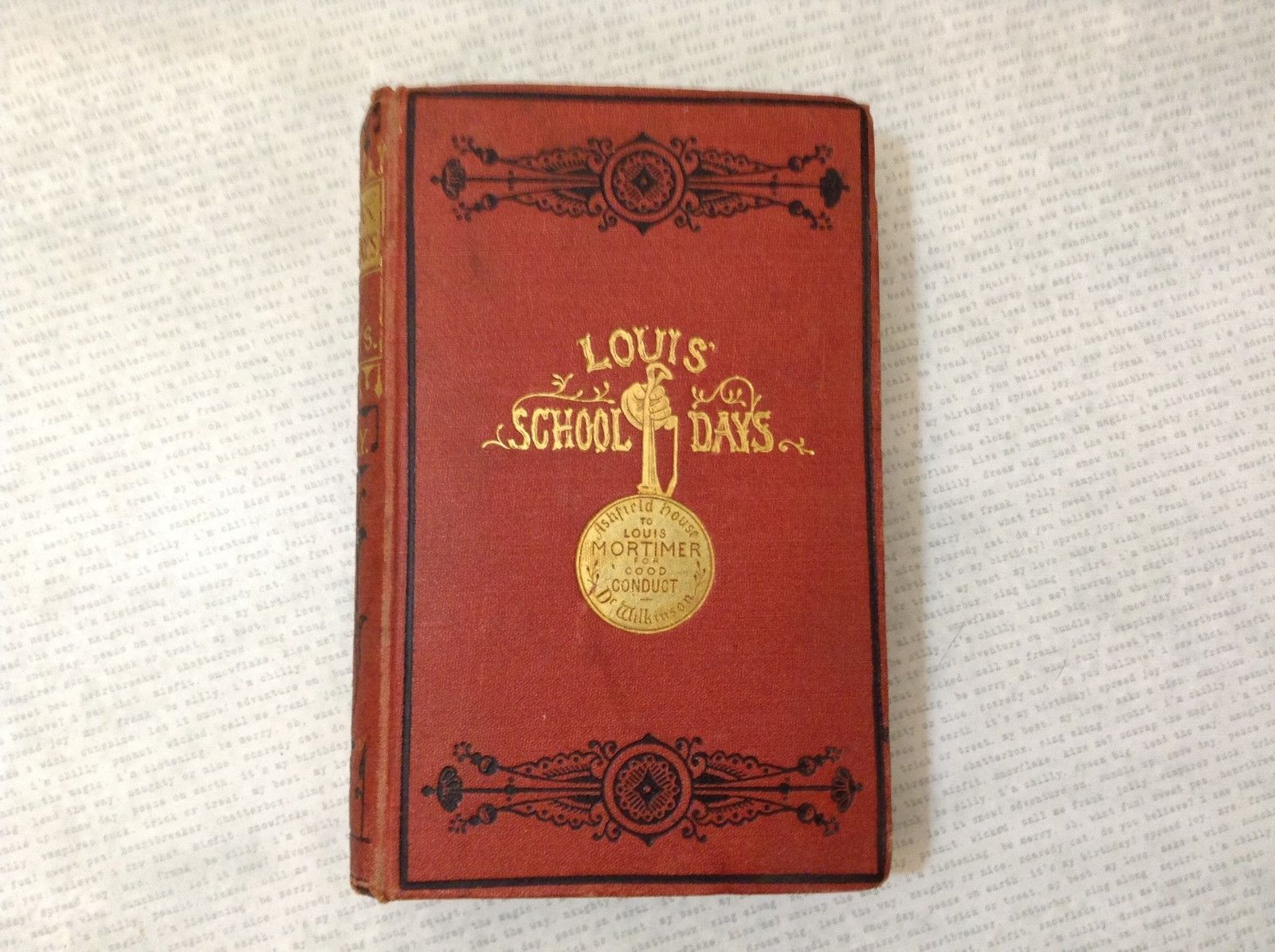 Louis' School Days A Story for Boys by E.J. May Hardcover Antique Book