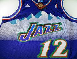 JOHN STOCKTON / NBA HALL OF FAME / AUTOGRAPHED UTAH JAZZ PRO STYLE JERSEY / COA image 2
