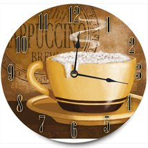 Stupell Home Décor Frothy Cappuccino Decorative Vanity Wall Clock, 12 x ... - $29.63
