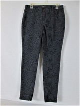 STYLE & CO DENIM WOMENS  10  GRAY BLACK PRINT SKINNY LEG JEGGINGS (N) - $28.50