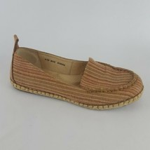 Born Espadrille Flat Beige Strip Womens 8 39 - $28.04