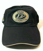 NCAA Purdue University Boilers Adjustable Strap Back Embroidered Logo Hat - $11.65