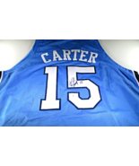 VINCE CARTER / AUTOGRAPHED NORTH CAROLINA TAR HEELS BLUE CUSTOM JERSEY / COA