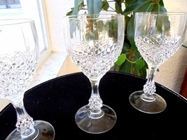 Set of 3 Cris D'Arques Chenonceaux Clear Crystal Water Glasses - $28.70