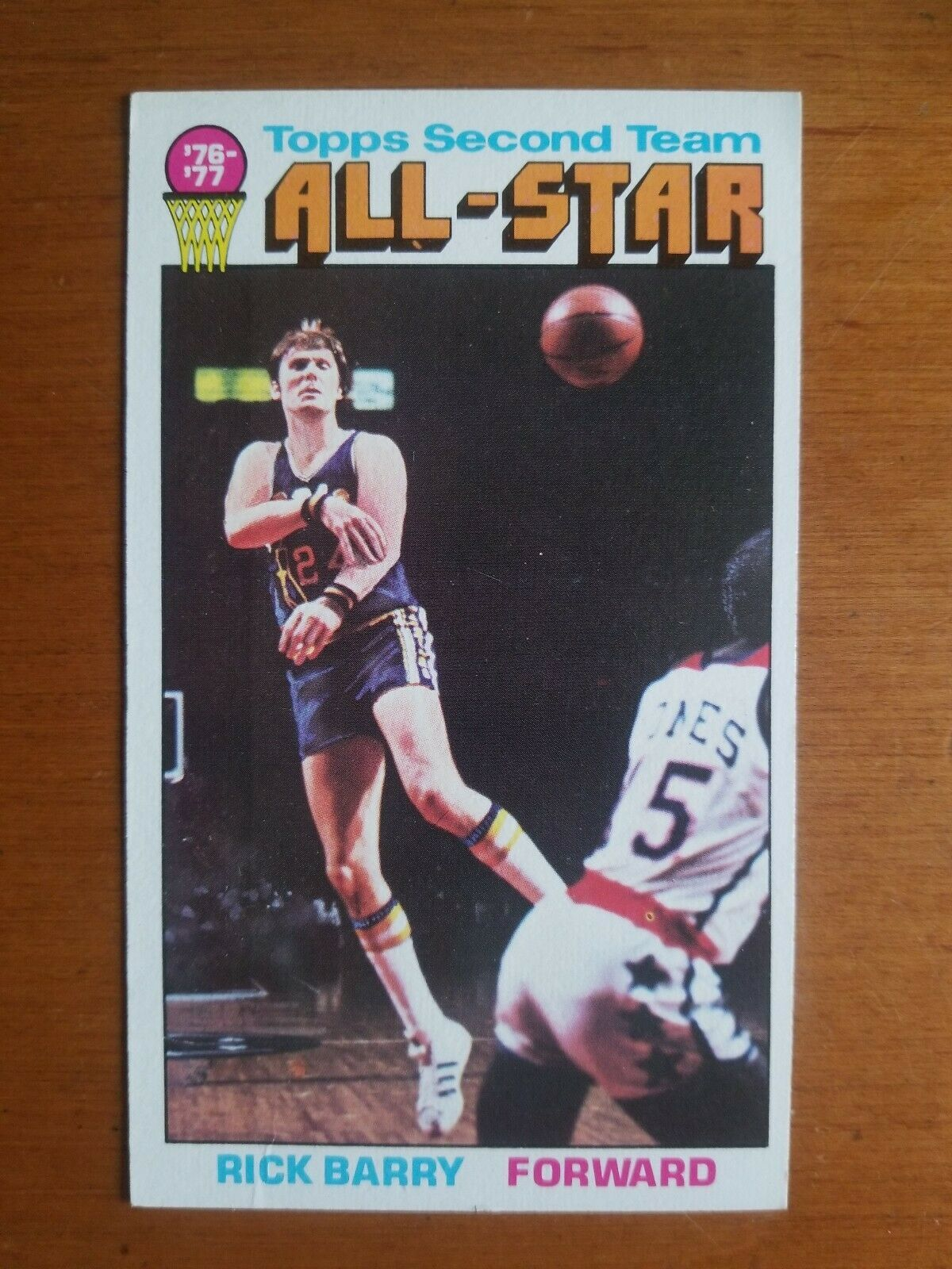 Primary image for 1976-77 TOPPS RICK BARRY GOLDEN STATE WARRIORS #132 All Star