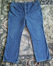 Big Ben By Wrangler Work Blue Jeans 46 x 32 Western Straight Leg 6P50DNO - $33.65