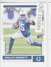2017 Panini Score Phillip Dorsett WR Indianapolis Colts #182  192689 - $1.86