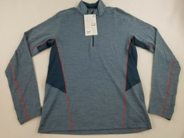new ICEBREAKER men shirt top StrikLt LS HZ 104269401 granite blue sz M $120 - $49.49