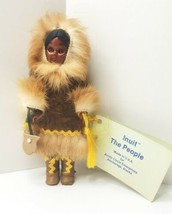 Inuit The People Handmade Doll U.S.A. Sleep Eyes, Leather, Fur with Tags... - $19.99