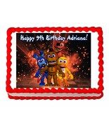 Five nights at Freddy's FNaF 2 party edible cake image topper frosting s... - $7.80