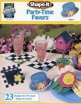 Shape-It Party Time Favors Cross Stitch Pattern Leaflet 10 count - $1.77