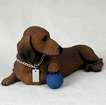 DACHSHUND (RED)  MY  DOG  Figurine Statue Pet Lovers Gift Resin Hand Pai... - $35.99
