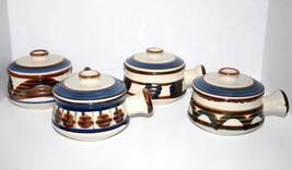 STONECREST JI Pottery 4 Crocks with Handles Lid... - $69.29