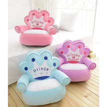 Baby Kids Only Cover NO Filling Cartoon Crown Seat Children Chair Neat P... - $27.45